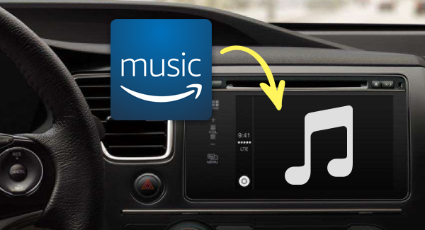 play amazon music in a car