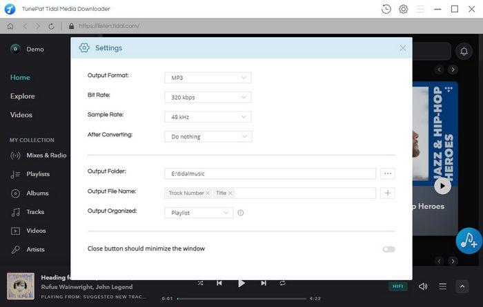 convert tidal music to mp3 with tunepat tidal media downloader